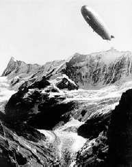 Graf Zeppelin over the Alps